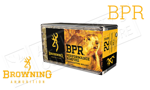 Browning Ammo 22LR BPR Hunting Ammunition, 37 Grain High Velocity Box of 50 #B194122050