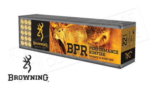 Browning Ammo 22LR BPR Target and Hunting 40 Grain, High Velocity Box of 100 #B194122100