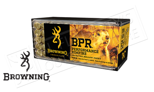 Browning Ammo 22WM BPR Hunting JHP 40 Grain Box of 50 #B195122050