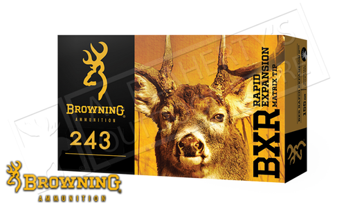 Browning Ammo 243 WIN BXR, 97 Grain Box of 20 #B192102431