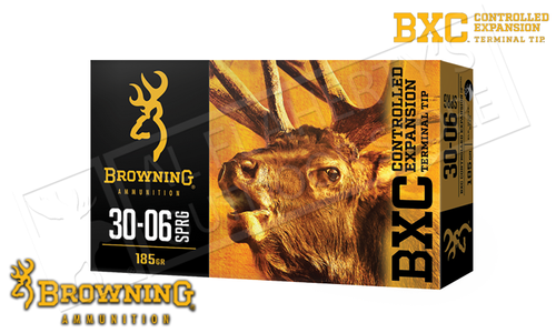 Browning Ammo 30-06 SPRG BXC, 185 Grain Box of 20 #B192230061