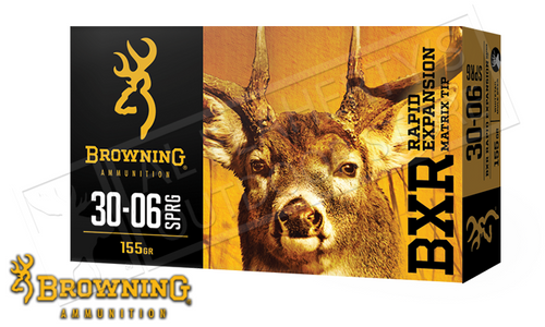 Browning Ammo 30-06 SPRG BXR, 155 Grain Box of 20 #B192130061