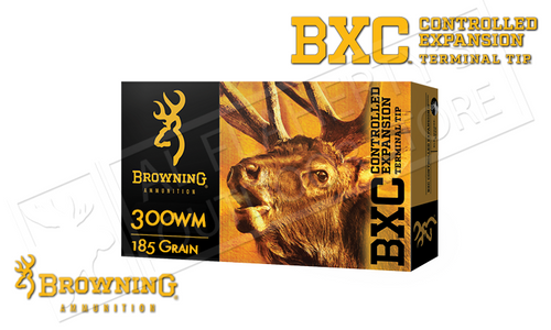 Browning Ammo 300WM BXC, 185 Grain Box of 20 #B192203001