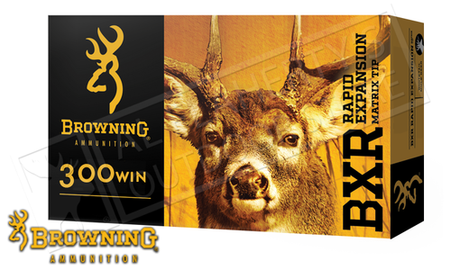 Browning Ammo 300WM BXR, 155 Grain Box of 20 #B192103001