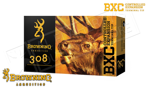 Browning Ammo 308 WIN BXC, 168 Grain Box of 20 #B192203081
