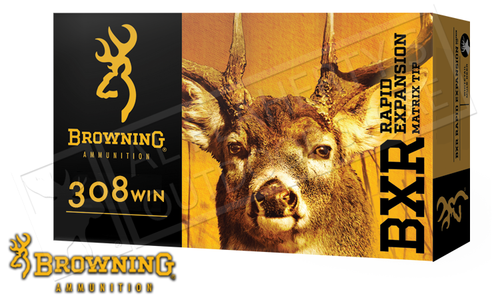 Browning Ammo 308 WIN BXR, 155 Grain Box of 20 #B192103081