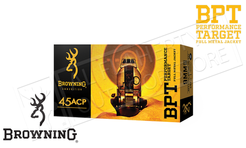 Browning Ammo 45ACP BPT Target 185 Grain FMJ Box of 50 #B191800452