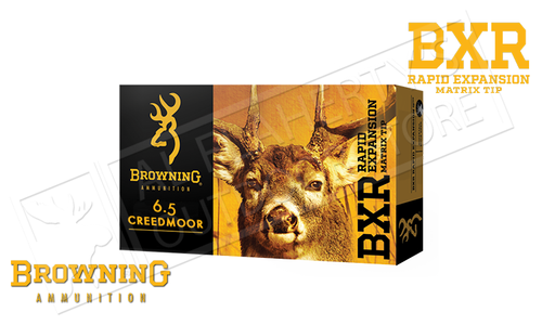 Browning Ammo 6.5 Creedmoor BXR, 129 Grain Box of 20 #B192100651