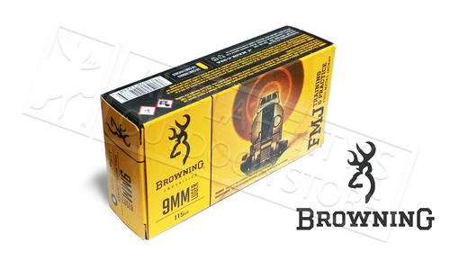 Browning Ammo 9mm FMJ Target 115 Grain FMJ Box of 50 #B191800092