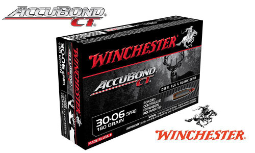 WINCHESTER 30-06 SPRINGFIELD ACCUBOND CT, POLYMER TIPPED 180 GRAIN BOX OF 20