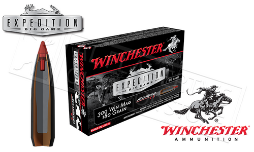 WINCHESTER 300 WINCHESTER MAGNUM ACCUBOND CT EXPEDITION BIG GAME, POLYMER TIPPED 180 GRAIN BOX OF 20