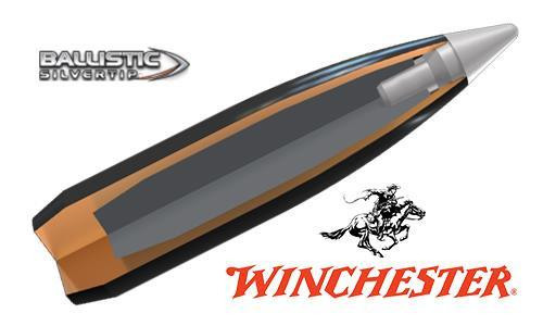 WINCHESTER .308 WIN BALLISTIC SILVERTIP, POLYMER TIPPED 168 GRAIN BOX OF 20