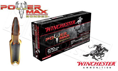 WINCHESTER 270 WIN POWER MAX, BONDED HP 130 GRAIN BOX OF 20