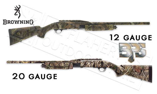 "Browning SG BPS Rifled Shotgun in Mossy Oak Break-Up Country Camo, 12 or 20 Gauge, 3"" Chamber, 22"" Barrel with Cantilever"