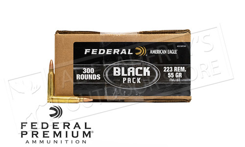 American Eagle .223 Rem FMJ Boat Tail Box of Bullets, 55 Grain Case of 300