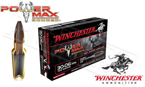 WINCHESTER 30-06 SPRINGFIELD POWER MAX, BONDED HP 150 GRAIN BOX OF 20
