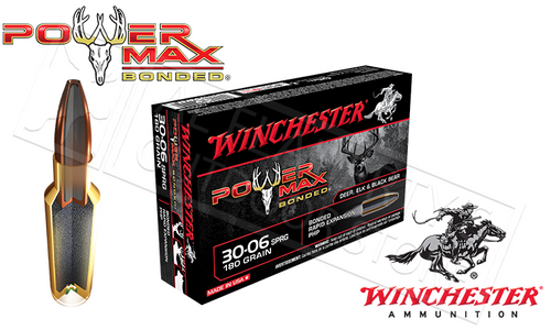 WINCHESTER 30-06 SPRINGFIELD POWER MAX, BONDED HP 180 GRAIN BOX OF 20