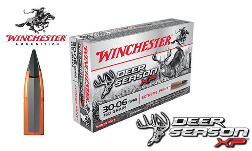 WINCHESTER 30-06 SPRINGFIELD DEER SEASON XP, POLYMER TIPPED 150 GRAIN BOX OF 20