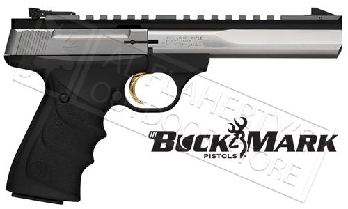 "Browning Handgun BuckMark Contour Stainless 5-1/2"" Barrel With Full Rail 22LR #051507490"
