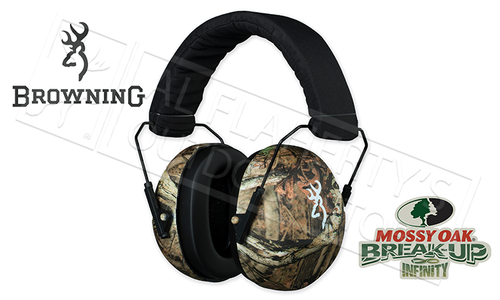 Browning BuckMark II Hearing Protectors, Mossy Oak Break-Up Infinity, NRR 26dB #12688