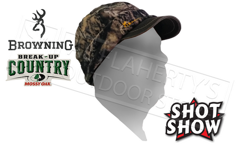 06d03bdb093 ... Browning Hat Bullseye Beanie with Brim and Flip Down Ear Covers - Blaze  Black or Camo