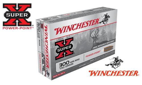 WINCHESTER 300 WINCHESTER MAGNUM SUPER X, POWER POINT 150 GRAIN BOX OF 20