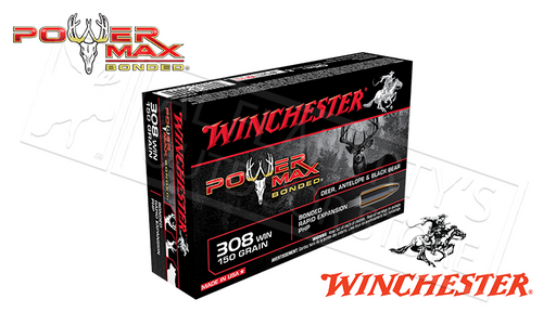 WINCHESTER 308 WIN POWER MAX, BONDED HP 150 GRAIN BOX OF 20