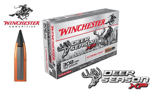WINCHESTER .308 WIN DEER SEASON XP, POLYMER TIPPED 150 GRAIN BOX OF 20