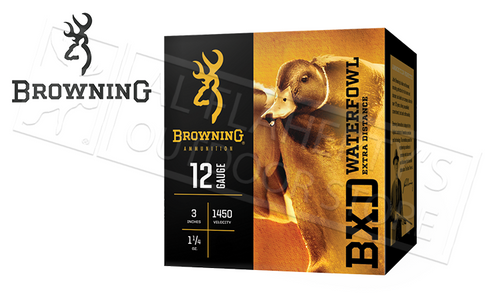 "Browning Ammo BXD Waterfowl Steel Shot Shells 12 Gauge 3"" 1-1/4 oz Box of 25 #B19341123"
