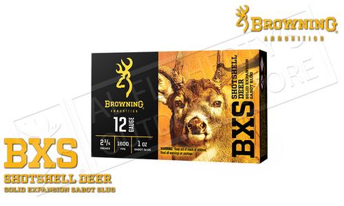 """Browning BXS Sabot Slugs 12 Gauge 2.75"""" 1 oz. Box of 5 #B193111221"""