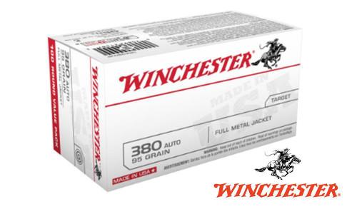WINCHESTER 380 AUTO VALUE PACK, 95 GRAIN BOX OF 100
