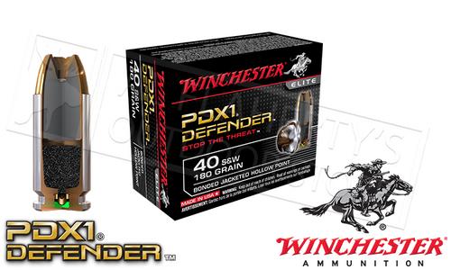 WINCHESTER .40S&W PDX1 DEFENDER, BONDED JHP 180 GRAIN BOX OF 20