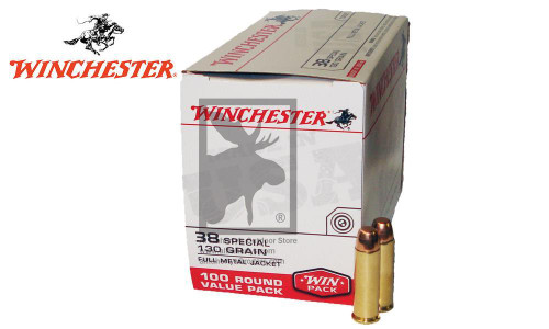 WINCHESTER .38 SPECIAL VALUE PACK, FMJ 130 GRAIN, BOX OF 100