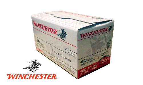 WINCHESTER .40S&W VALUE PACK, 165 GRAIN, BOX OF 100