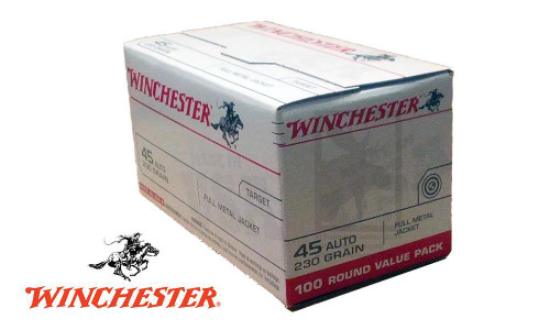 WINCHESTER .45ACP VALUE PACK, 230 GRAIN, BOX OF 100
