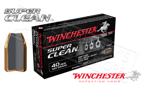 WINCHESTER .40S&W SUPER CLEAN, 120 GRAIN BOX OF 50
