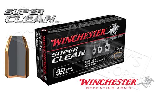WINCHESTER .40S&W SUPER CLEAN, 120 GRAIN BOX OF 50
