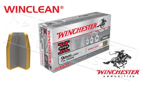 WINCHESTER 9MM WINCLEAN, TFMJ 115 GRAIN BOX OF 50