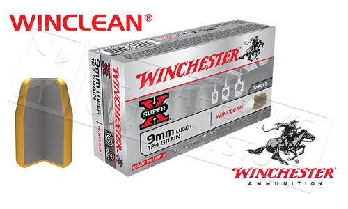 WINCHESTER 9MM WINCLEAN, TFMJ 124 GRAIN BOX OF 50