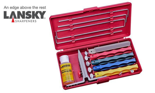 LANSKY PROFESSIONAL SHARPENING SYSTEM / PRECISION KNIFE SHARPENING KIT #LKCPR