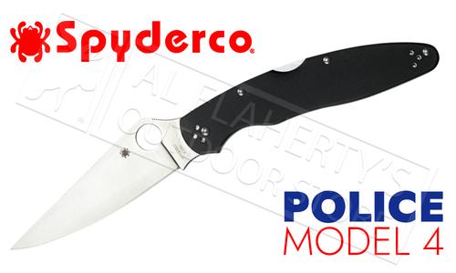 Spyderco Police Model 4 Folder with G-10 Grips #C07G4