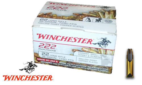 WINCHESTER 222 VALUE PACK .22LR, 222 ROUNDS 36-GRAIN JACKETED HOLLOW-POINT