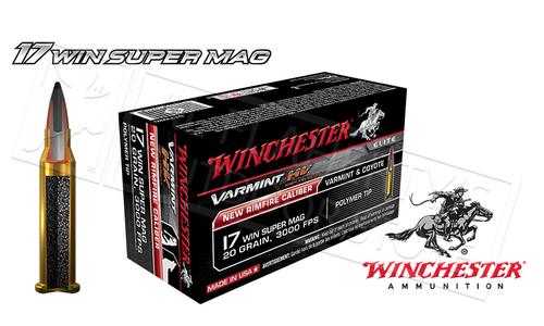 WINCHESTER 17WSM VARMINT HV, 20 GRAIN BOX OF 50