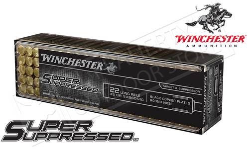 WINCHESTER SUPER SUPPRESSED 22LR FMJ 45-GRAIN BOX OF 100