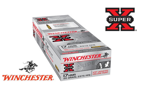 WINCHESTER SUPER X 17HMR XTP JHP, 20 GRAIN BOX OF 50