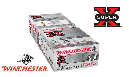 WINCHESTER SUPER X 17HMR XTP JHP, 20 GRAIN BOX OF 50