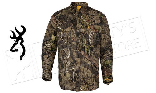 Browning Wasatch Shirt, Mossy Oak Break-Up Various Sizes #301780280