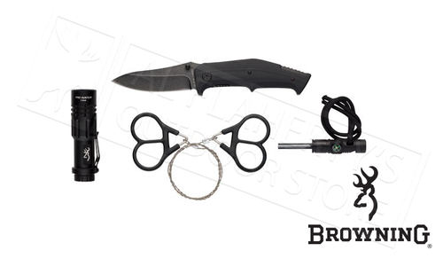 Browning Survival Kit, 4 Pieces and Case #3220288