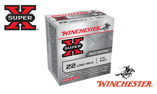 WINCHESTER SUPER X, 22LR, NO. 12 SHOT, BOX OF 50