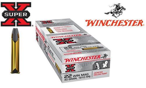 WINCHESTER SUPER-X, .22 WIN MAG, 40 GRAIN JHP BOX OF 50